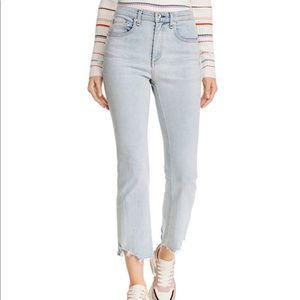 Rag & Bone Hanna Destroyed Hem Crop Flared Jeans